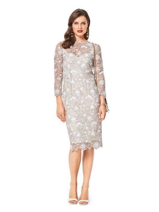 Сукня-футляр мереживна з нижньою сукнею