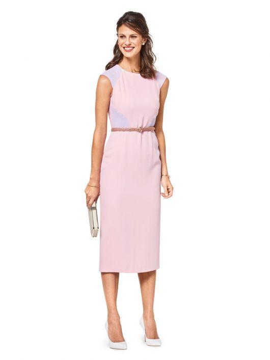 Сукня-футляр в стилі колор-блокінг