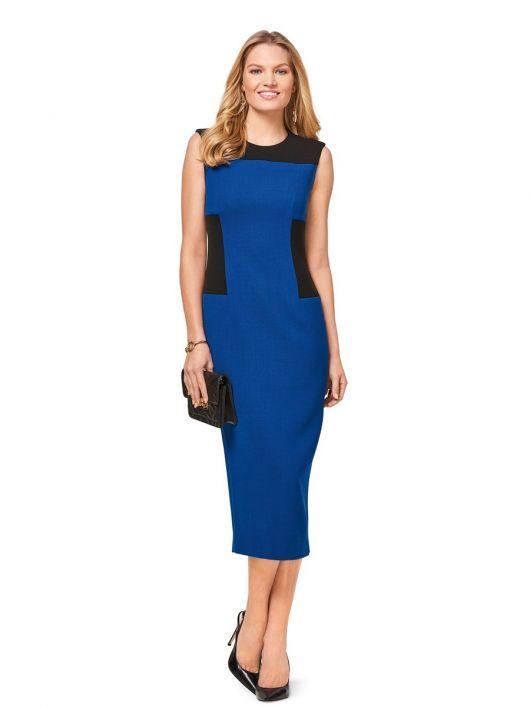 Сукня приталеного крою з контрастними вставками