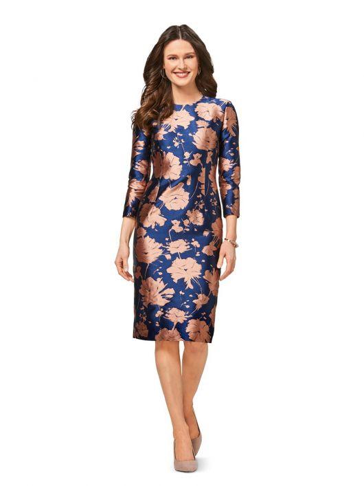 Сукня-футляр з боковими вставками