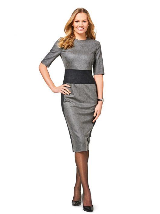 Сукня-футляр з контрастним вшивним поясом