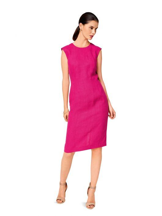 Сукня-футляр з приспущеною лінією плеча
