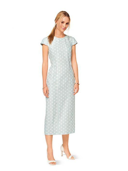 Сукня-футляр довжини міді
