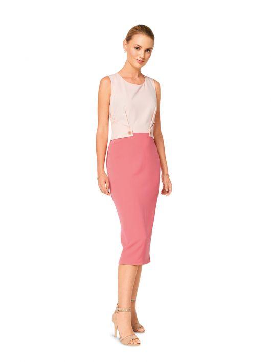 Сукня-футляр двоколірна з декоративними деталями