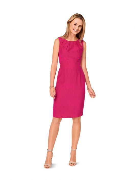 Сукня-футляр із фігурним вшивним поясом