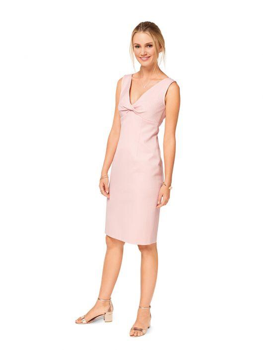 Сукня-футляр з драпіровкою на ліфі