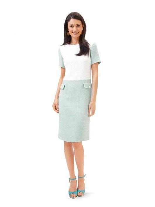 Сукня-футляр із короткими рукавами