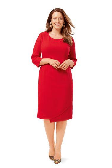 Сукня-футляр відрізна з ефектом запаху