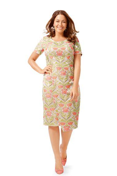 Сукня-футляр з короткими рукавами та з ефектом запаху