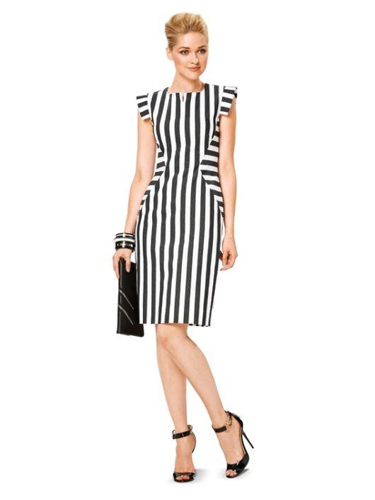 Сукня-футляр з фігурними деталями