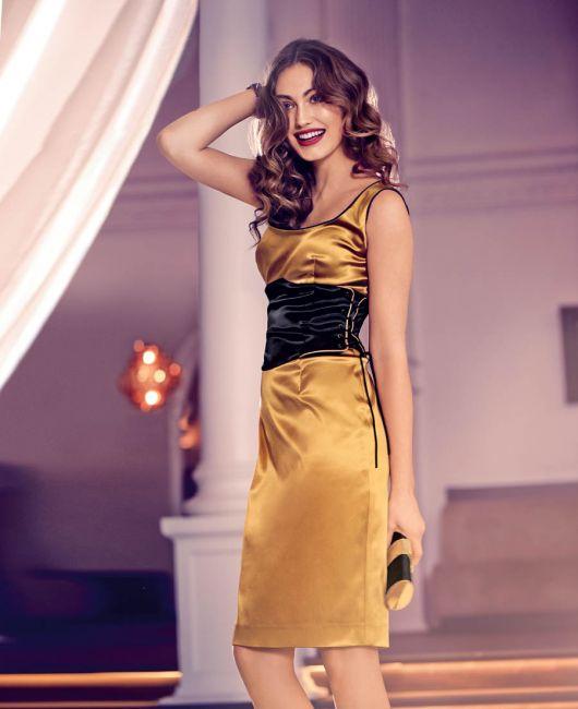 Сукня по фігурі з імітацією пояса-корсажа