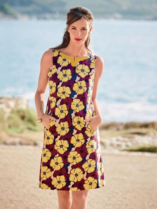 Сукня А-силуету з деталями зі шкіри