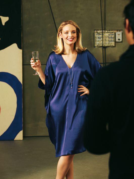 Сукня-каптан із нижньою спідницею