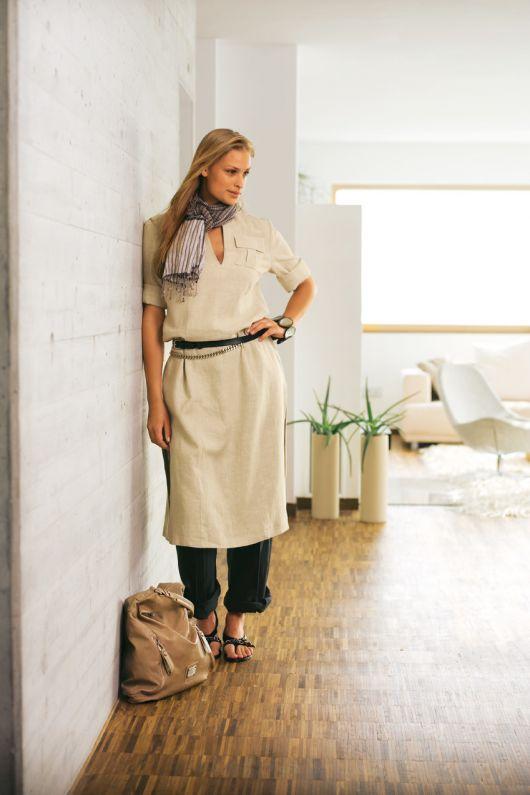 Сукня-каптан з кишенями-портфелями