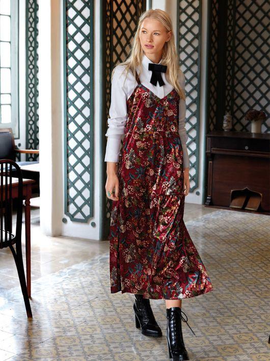 Сукня-комбінація триярусна з розрізами