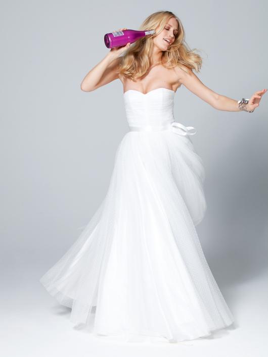 Сукня-корсаж довга з пишною спідницею