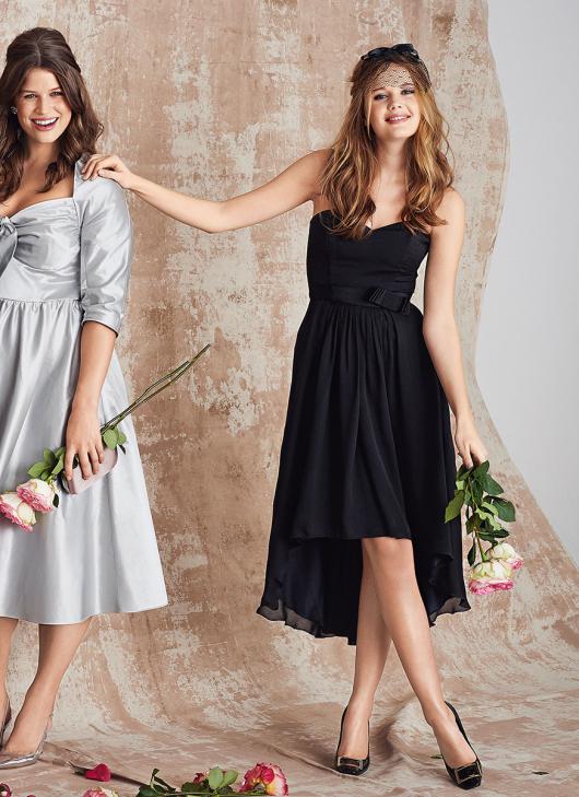 Сукня-бюстьє з асиметричним низом