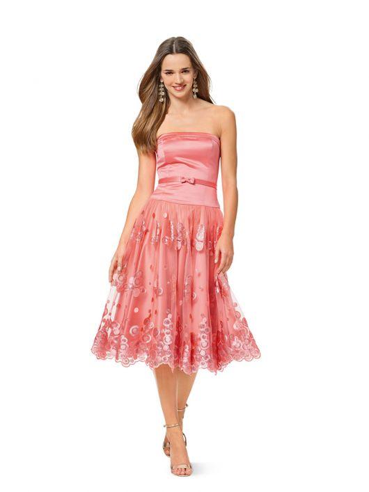 Сукня-бюстьє з мереживною спідницею