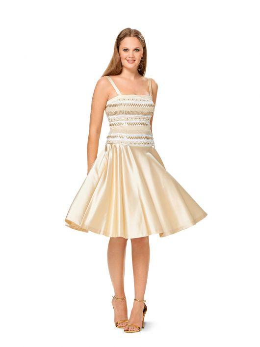 Сукня-бюстьє з атласною спідницею