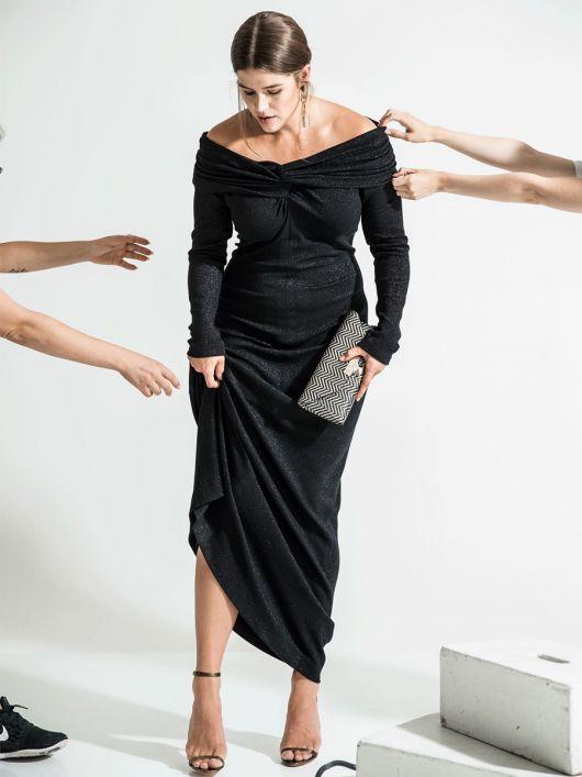 Сукня максі А-силуету зі знімною деталлю