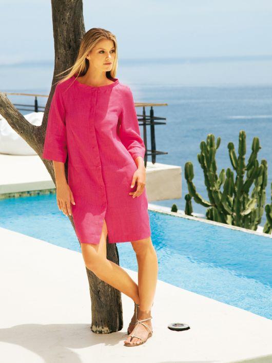 Сукня-пальто літня з рукавами реглан