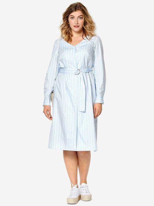 Сукня сорочкового крою з V-подібним вирізом без коміра