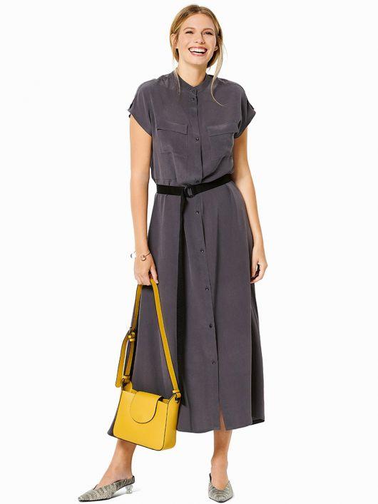 Сукня-сорочка з контрастним ременем