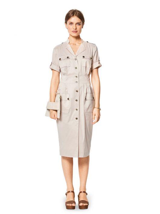Сукня-сорочка в стилі сафарі