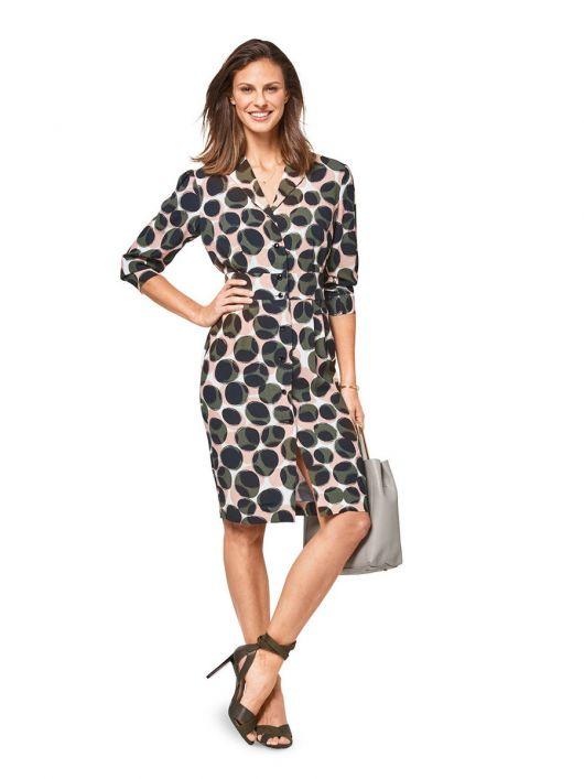 Сукня-сорочка з широким вшивним поясом