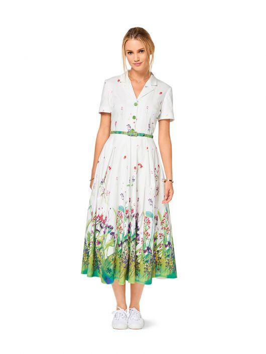 Сукня-сорочка довжини міді зі спідницею в складку