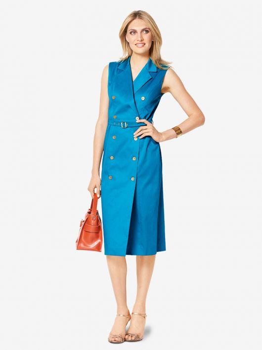 Сукня-жилет з вузьким поясом