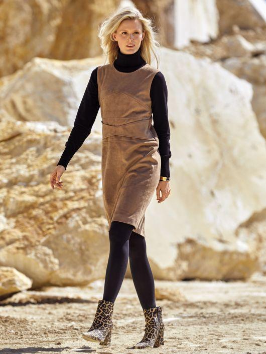 Сукня А-силуету зі штучної замші