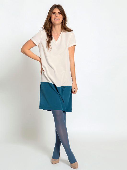Сукня А-силуету у стилі колор-блок