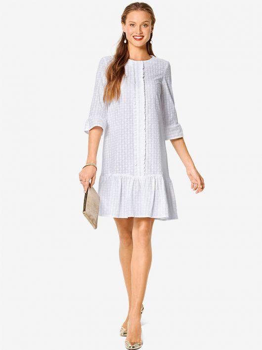 Сукня А-силуету з рукавами 3/4 і оборками