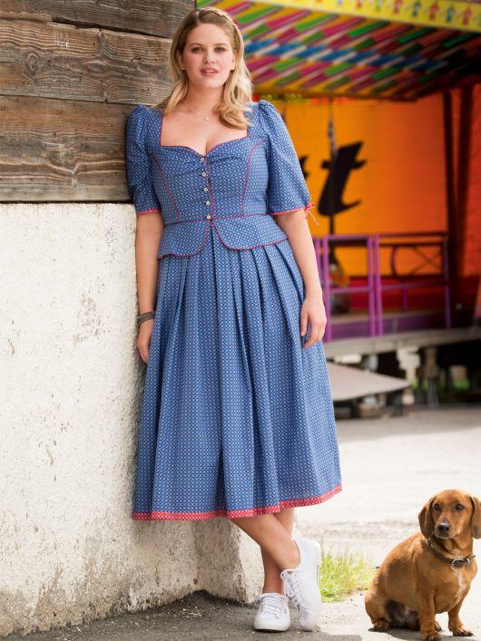 Сукня в баварському стилі з баскою