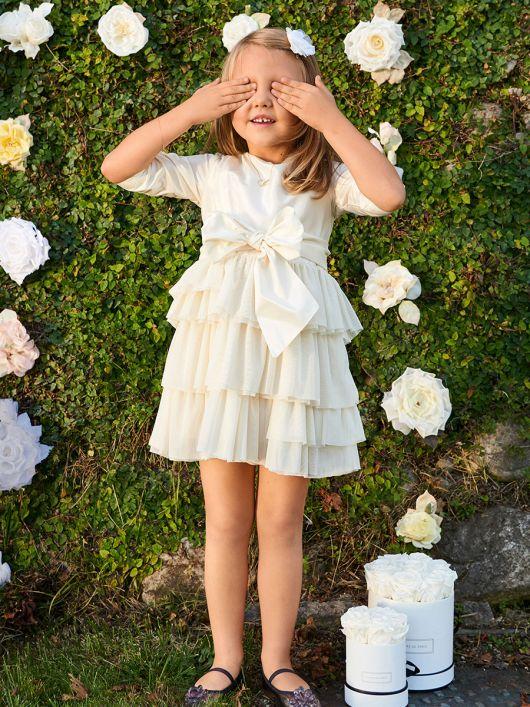 Сукня відрізна з пишними оборками