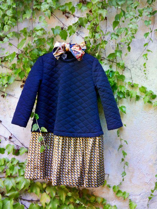 Сукня комбінована А-силуету