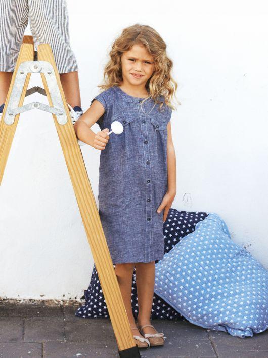 Сукня лляна із наскрізною застібкою