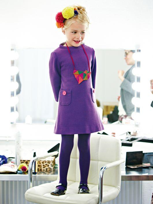 Сукня трикотажна А-силуету з довгими рукавами