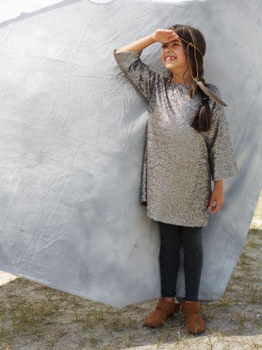 Сукня А-силуету з пайєтками