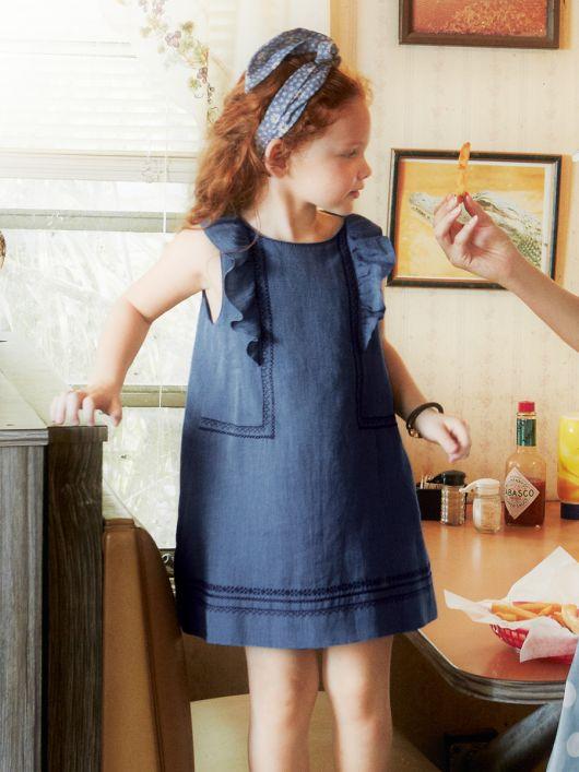 Дитяча сукня А-силуету з оборками