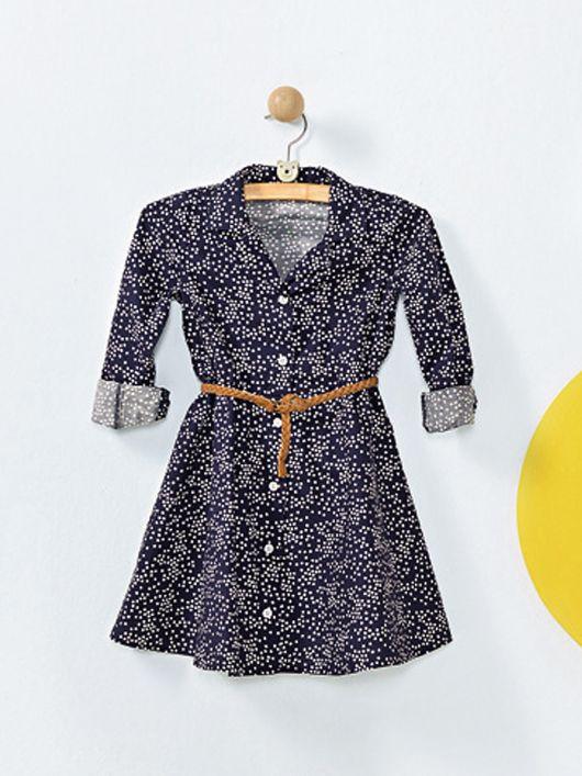 Сукня-сорочка з пишною спідничкою