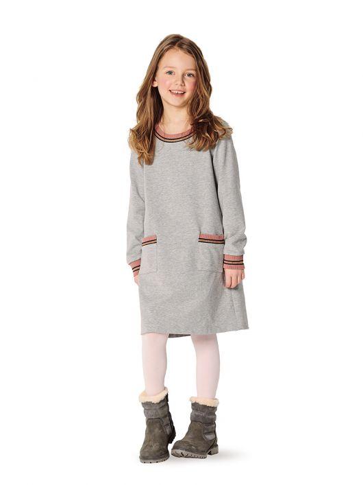 Сукня трикотажна А-силуету з накладними кишенями