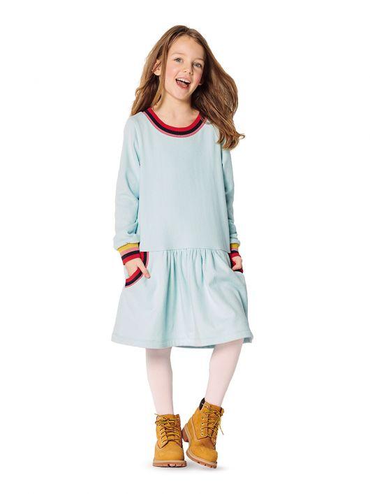 Сукня трикотажна А-силуету з кишенями