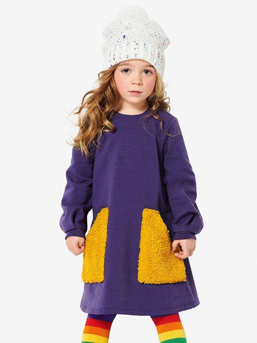 Сукня трикотажна А-силуету з великими кишенями