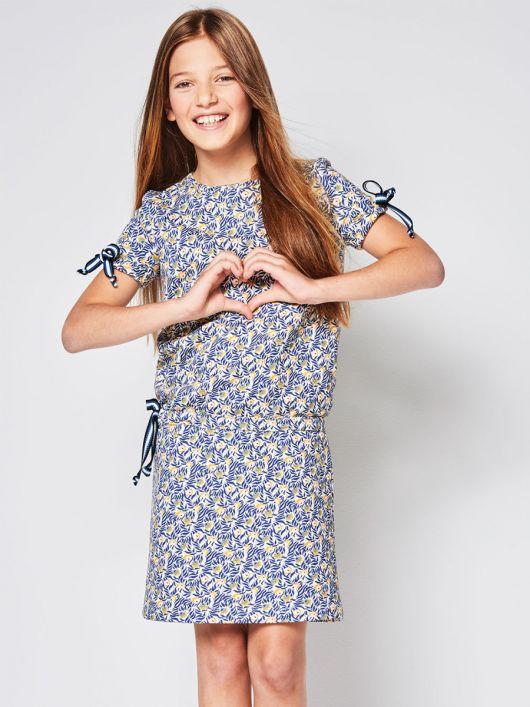 Сукня трикотажна з куліскою на талії
