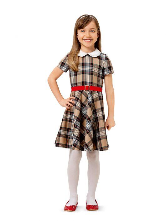 Сукня відрізна з короткими рукавами і відкладним коміром