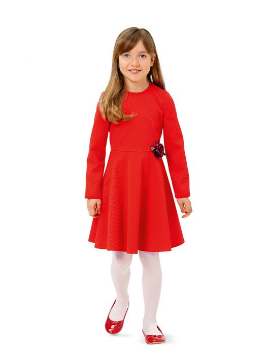 Сукня відрізна з хвилястою спідницею