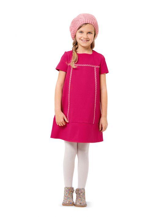 Сукня А-силуету з короткими рукавами