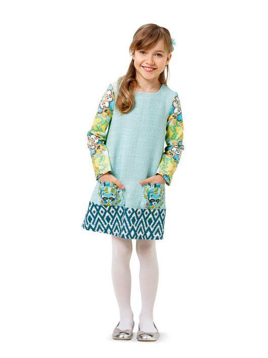 Сукня А-силуету з довгими рукавами